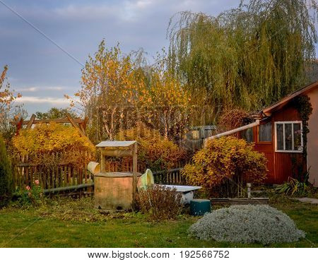 a cottage in the village in Poland