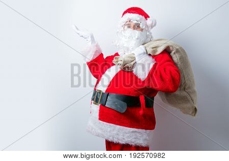 Funny Santa Claus With Sack