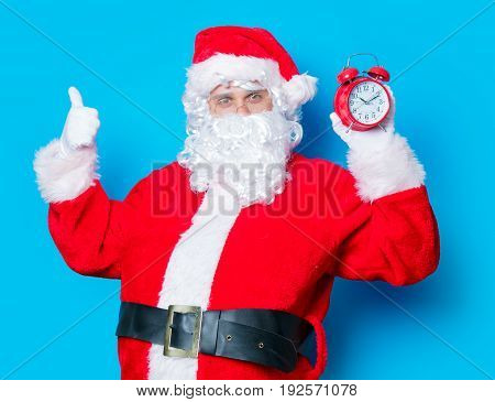 Funny Santa Claus Have A Fun Wtih Alarm Clock
