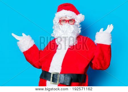 Funny Santa Claus Have A Fun With Red Eyeglasses