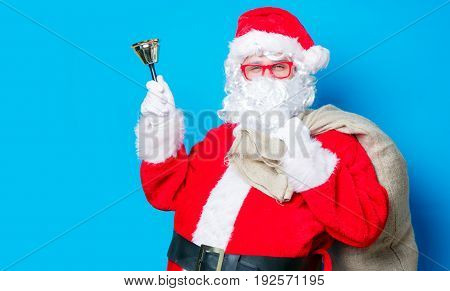 Funny Santa Claus Have A Fun With Bell