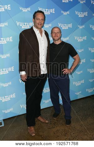 NEW YORK-MAY 20: Vince Vaughn (L) and Tim Ferriss attend the 'Tim Ferris and Vince Vaughn: In Conversation