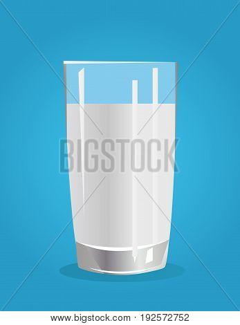 Fresh drink: Milk illustration on blue background