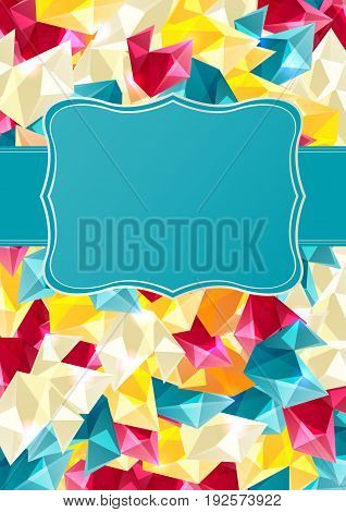 Colorful abstract background with space for text.Vector illustration.