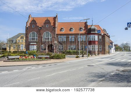 View on old town - Tonder in Denmark Europe.