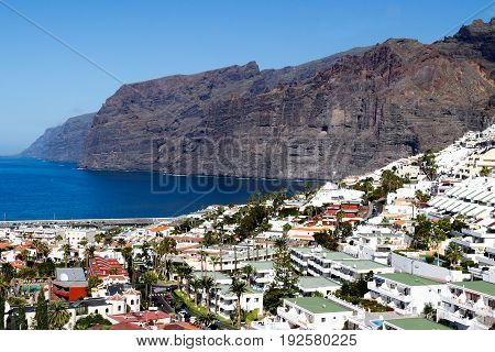 the suggestive view of los gigantes in Tenerife