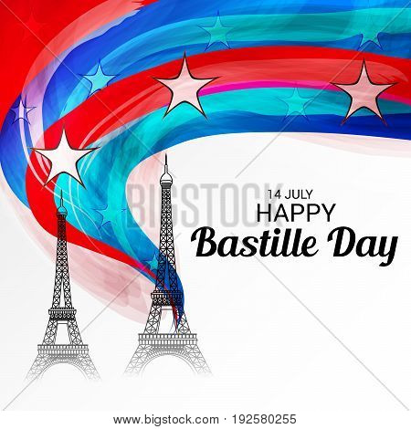 illustration of a background for Happy Bastille Day.