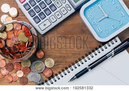 Thai Baht Coins Money, Financial Plan