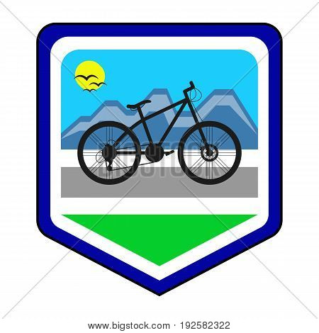 The cycling community logo. This is the vector illustration.