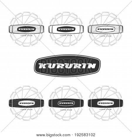 Hand Fidget Kururin Logo Set Vector Illustration
