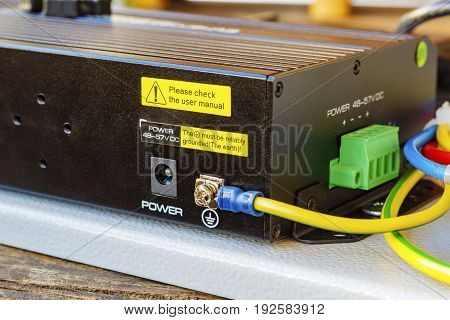 Poe Ethernet Switch With Ground Cable Connected