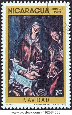 NICARAGUA - CIRCA 1983: A stamp printed in Nicaragua from the