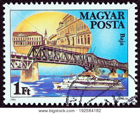HUNGARY - CIRCA 1985: A stamp printed in Hungary from the