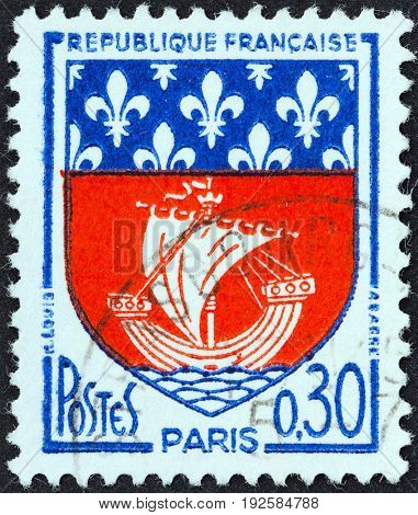 FRANCE - CIRCA 1965: A stamp printed in France from the