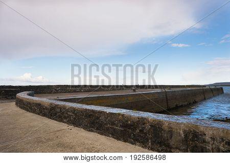 Ballyvaughan pier on a calm quiet evening