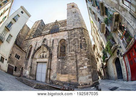 Catholic church - Basílica dels Sants Martirs Just i Pastor in Barcelona Spain