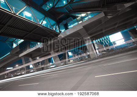 City Road Surface Floor With Viaduct Bridge