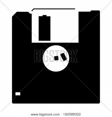 Floppy Disk  The Black Color Icon .
