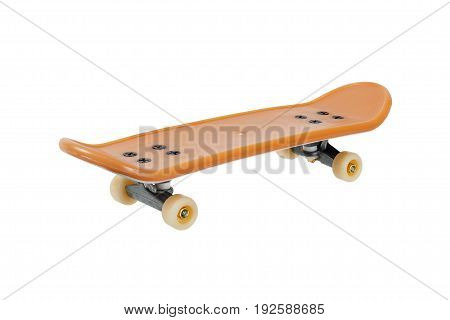 Toy: mini skateboard isolated on white background
