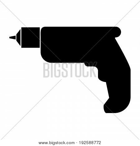 Hand Drill  The Black Color Icon .