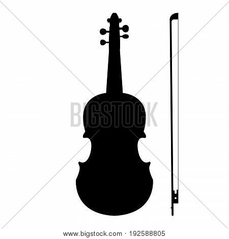 Violin  The Black Color Icon .