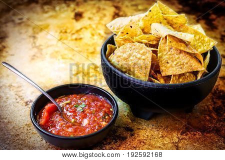 Chips and Salsa at a Mexican restaurant in southern California!