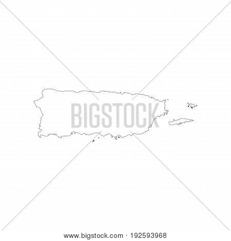 Puerto Rico map on the white background. Vector illustration
