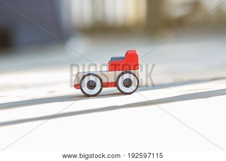 red toy car. red color little car kid toy