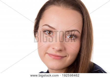 Headshot of a brown hair lady smiling.