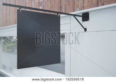 Empty Black Banner