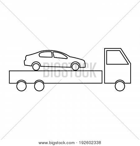 Car Service  The Black Color Icon .