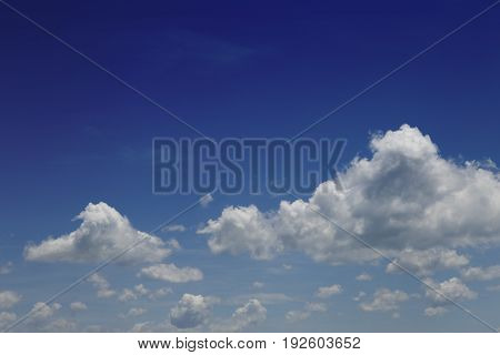 Beautiful blue sky and clouds . Relax concept.