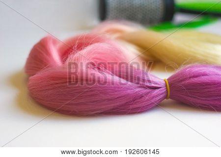 Pink Kanekalon