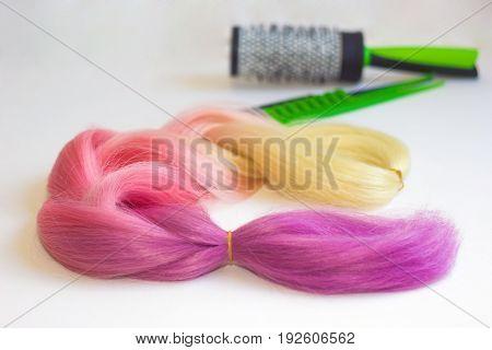 Blond And Pink Kanekalon