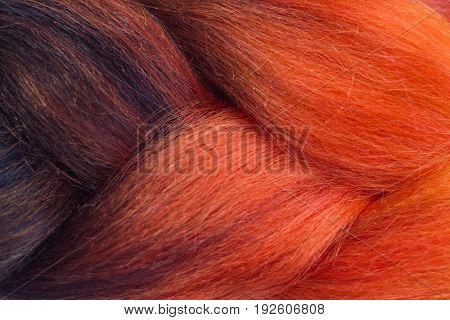 Orange And Brown Kanekalon