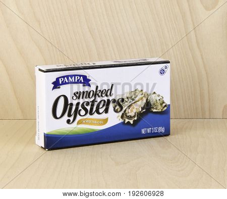 Spencer WisconsinJune 24 2017 Box of Pampa Smoked Oysters Pampa is a leading supplier of Oysters and Seafood