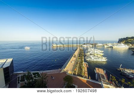 Sea port of Monte Carlo Cote d'Azur Principality of Monaco