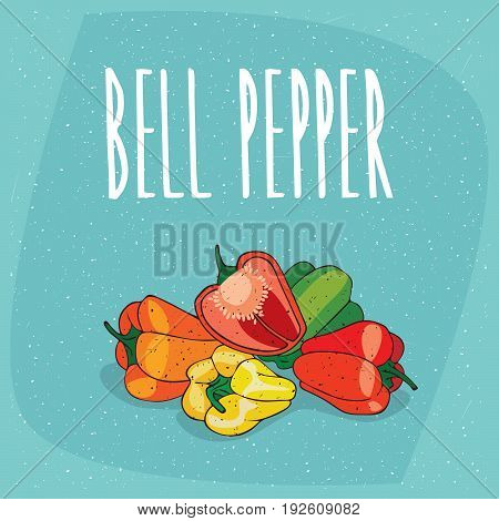 Isolated Ripe Capsicum Fruits Or Bell Pepper