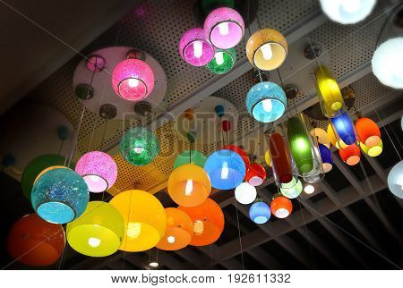 roof colorful lantern for sale at supermarket