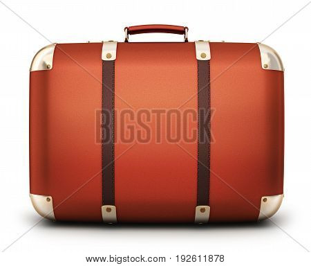 Abstract case travel only on white backgroun. 3d illustration