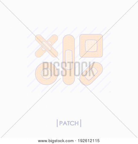 Collection of different patch icons. Vector illustration