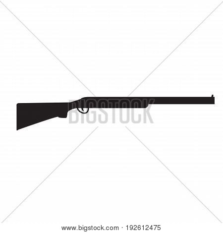 Silhouette of Shotgun, hunting rifle. Vector illustration