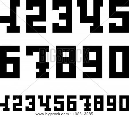 Modern numbers set for your infographic design. Serif font number icons isolated on white background. Vector illustration