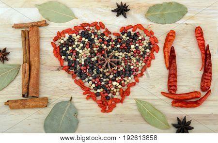 Valentine Spices Tell Love