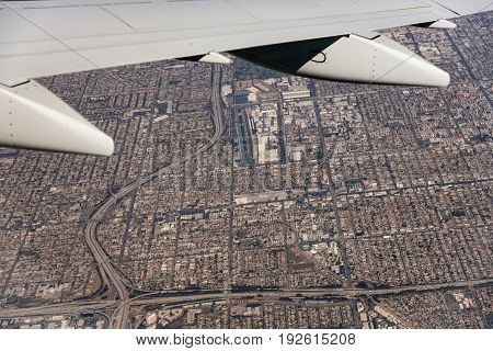 City Seen From Airplane