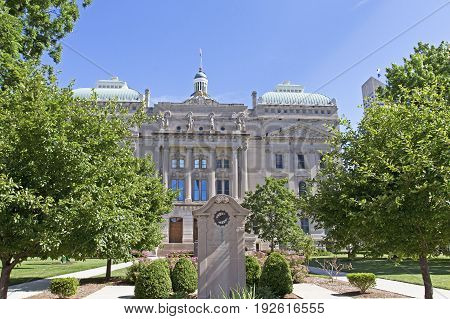 State house capitol building of Indiana in Indianapolis USA