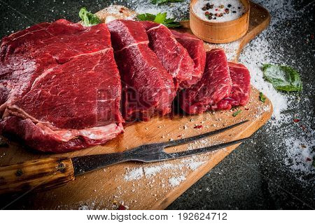 Beef, Veal. Fresh Raw Tenderloin