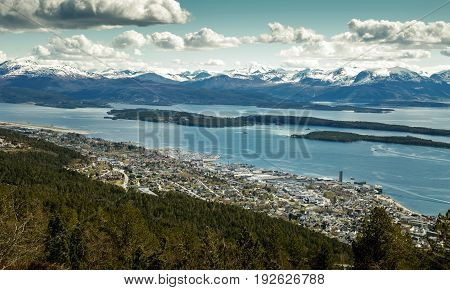 Panorama of Molde town in western Norway