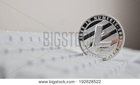 Silver Litecoin Coin