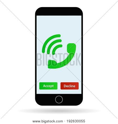 Mobile phone call vector illustration cellphone calling